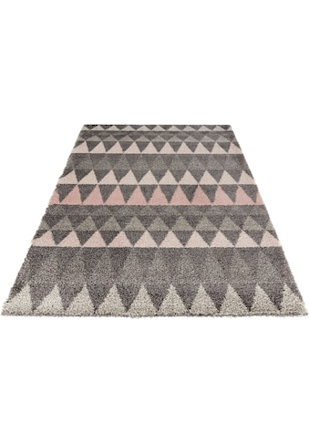 Hochflor - Teppich, »Triangle«, MINT RUGS, rechteckig, Höhe 35 mm, maschinell gewebt kaufen