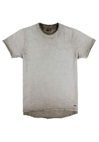 emilio adani Rundhalsshirt, mit dezenter Streifenstruktur kaufen