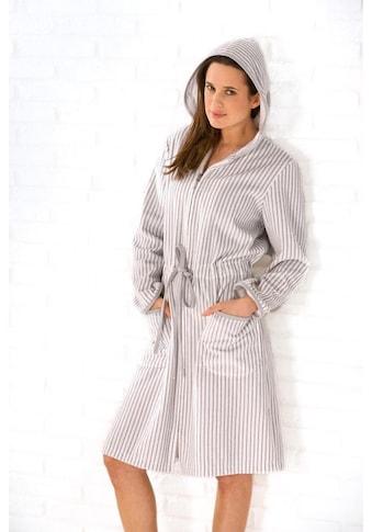 Cawö Damenbademantel »Borkum«, (1 St.), mit feinen Streifen kaufen