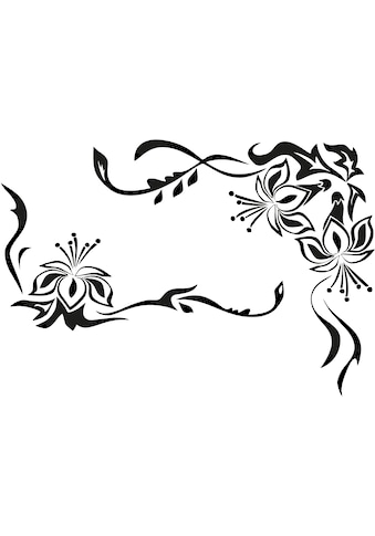 Home affaire Wandtattoo »Blütenornament« kaufen