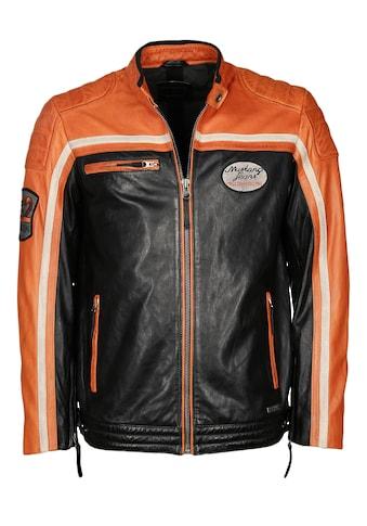 MUSTANG Lederjacke »Gunner«, im Bikerstil kaufen