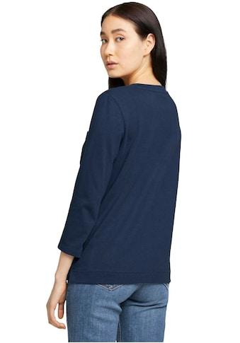 TOM TAILOR 3/4-Arm-Shirt, mit Bio-Baumwolle kaufen