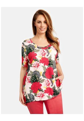 Samoon T - Shirt Kurzarm Rundhals »T - Shirt mit Blumenprint« kaufen