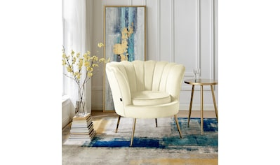 Home affaire Loungesessel »Kelsey«, mit einem schönen weichen Samtvelours Bezug, edlem... kaufen