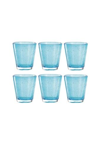 LEONARDO Glas »Leonardo Trinkglas Burano Azzurro 3«, (6 tlg.), 6 teilig kaufen