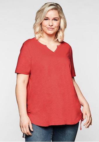 Sheego T-Shirt, mit seitlichen, regulierbaren Raffungen kaufen