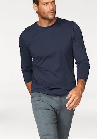 Man's World Langarmshirt, aus reiner Baumwolle kaufen