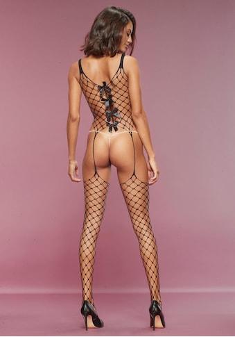 petite fleur goldfarben Bodystocking, aus Maxi-Netz mit Zierschleifen kaufen