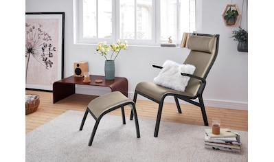 andas Relaxsessel »Zürich«, mit Hocker, in 3 verschiedenen Bezugsqualitäten kaufen