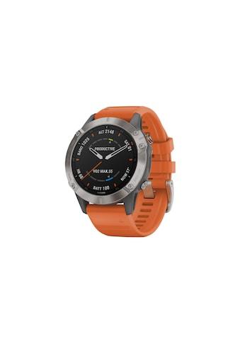 Garmin Smartwatch »fenix 6 Sapphire Orange/Silberfarben«, ( ) kaufen