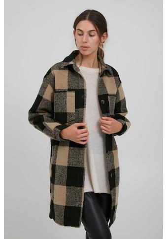 Ichi Kurzmantel »IHHASANA JA 20114756«, moderner Karo-Mantel im Holzfäller-Look kaufen