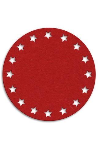 Wall-Art Tischdecke »Filzdecke Sternenkranz Rund« kaufen