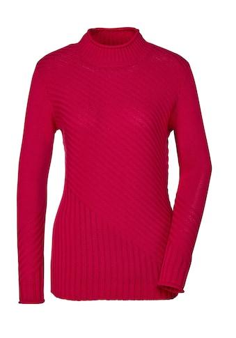 Creation L Pima - Baumwoll - Pullover mit Stehkragen kaufen