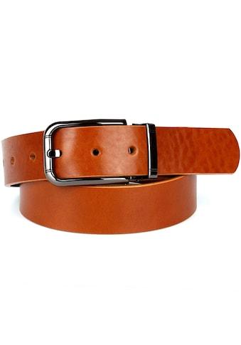 Anthoni Crown Ledergürtel, mit modischer Schliesse kaufen
