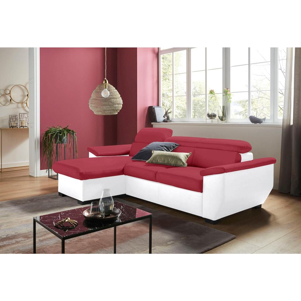 COTTA Ecksofa, wahlweise mit Bettfunktion und Bettkasten
