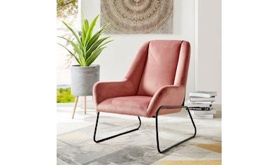 andas Sessel »Casero«, mit einem schönen pflegeleichtem Samtvelours Bezug und... kaufen