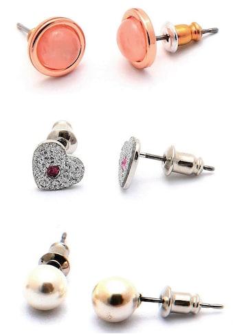 J.Jayz Ohrstecker - Set »3 Paar Ohrringe in verschiedenen Formen« (Set, 6 tlg.) kaufen