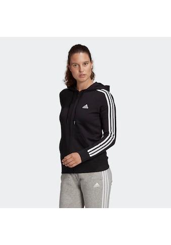 adidas Performance Kapuzensweatjacke »3-STRIPES FULL ZIP HD ESSENTIALS REGULAR WOMENS« kaufen