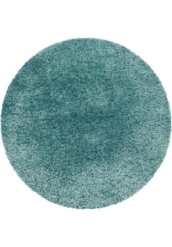 Ayyildiz Hochflor-Teppich »BRILLIANT 4200«, rund, 50 mm Höhe, Wohnzimmer kaufen