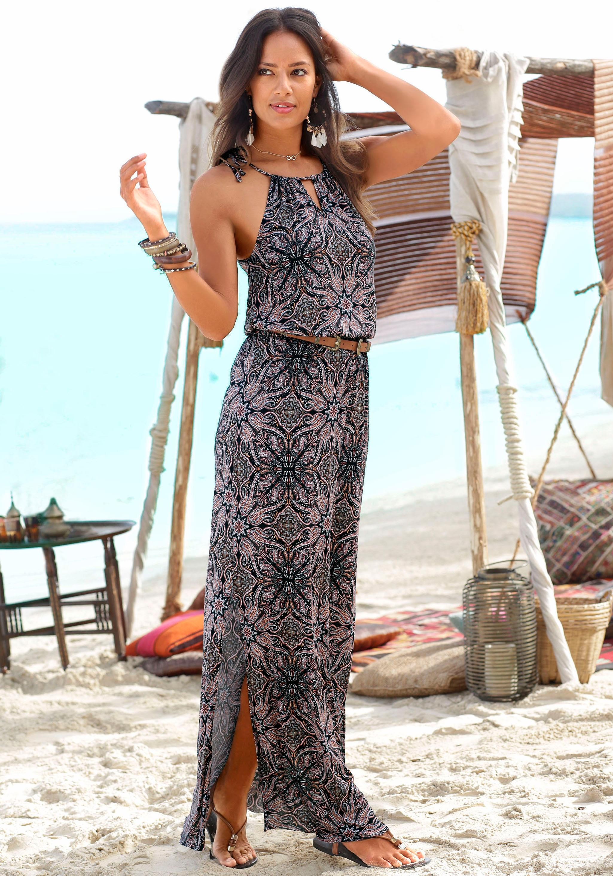Image of LASCANA Maxikleid mit modischem Ausschnitt