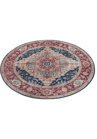 Teppich, »Sylla«, NOURISTAN, rund, Höhe 5 mm, maschinell gewebt kaufen