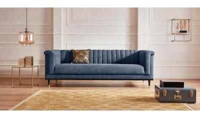 Guido Maria Kretschmer Home&Living 3-Sitzer »Chamby«, mit Holzrahmen unten und Steppung im Lehnenbereich kaufen