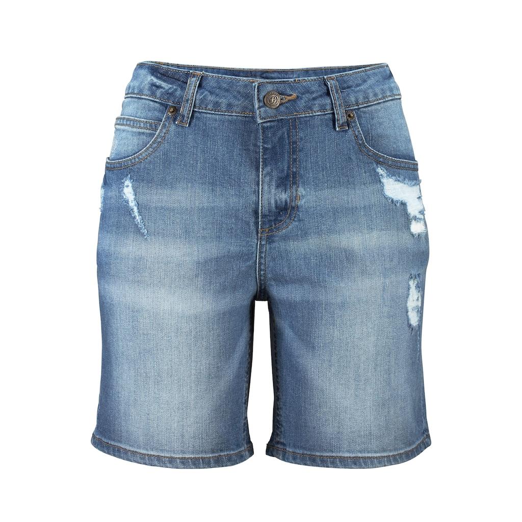 Buffalo Jeansbermudas, mit Destroyed-Effekten
