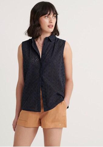 Superdry Spitzenbluse »TILLY BRODERIE SHIRT«, mit Hemdkragen kaufen