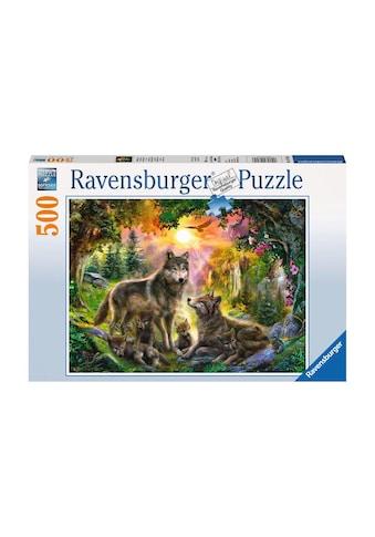 Ravensburger Puzzle »Wolfsfamilie im Sonnenschein« kaufen