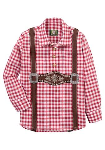 OS - Trachten Trachtenhemd Kinder mit aufgenähtem Hosenträger kaufen