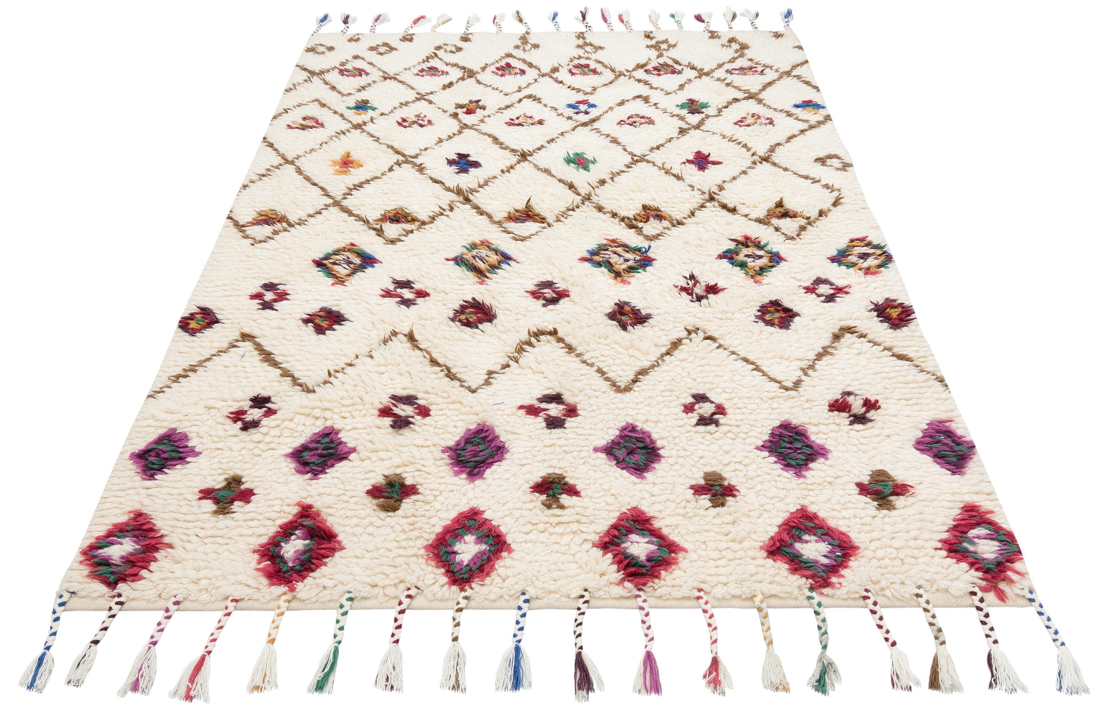 Image of 170QM Teppich »Allzeit«, rechteckig, 20 mm Höhe, handgewebt, mit Fransen, Wohnzimmer