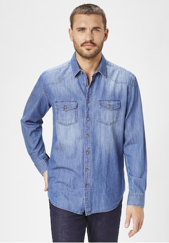 Paddock's Langarmhemd, Jeans-Hemd kaufen