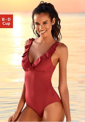 JETTE Badeanzug, mit eleganter Rüsche und Shaping-Effekt kaufen