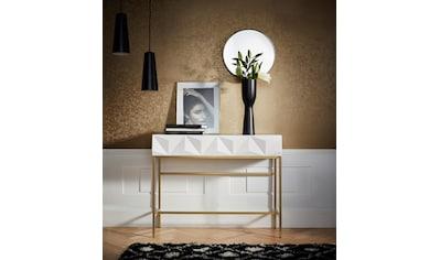 Leonique Sideboard »Minfi«, in 3D-Optik, Konsolentisch mit goldfarbenem Metallgestell,... kaufen