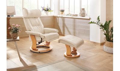 Home affaire Relaxsessel »Andorra«, mit einem Drehfuss aus schöner Holzoptik und einem... kaufen