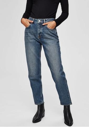 SELECTED FEMME Mom-Jeans, aus klassischem Baumwolldenim kaufen