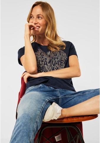 Cecil T-Shirt, Wordingprint mit Metallic-Effekt kaufen