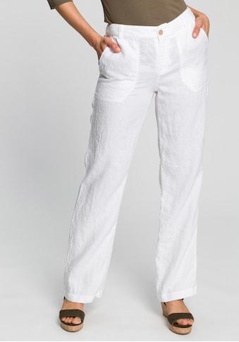 MAC Leinenhose »Nora«, Weich fleissende Leinenqualität kaufen