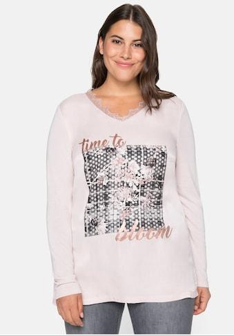 Sheego Blusenshirt, mit Frontdruck kaufen