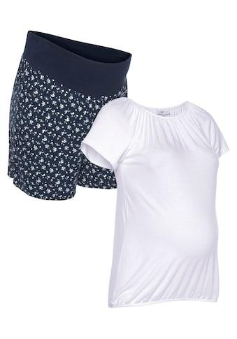 Neun Monate Umstands-Set »Powered by Flashlights«, Shorts + Shirt kaufen