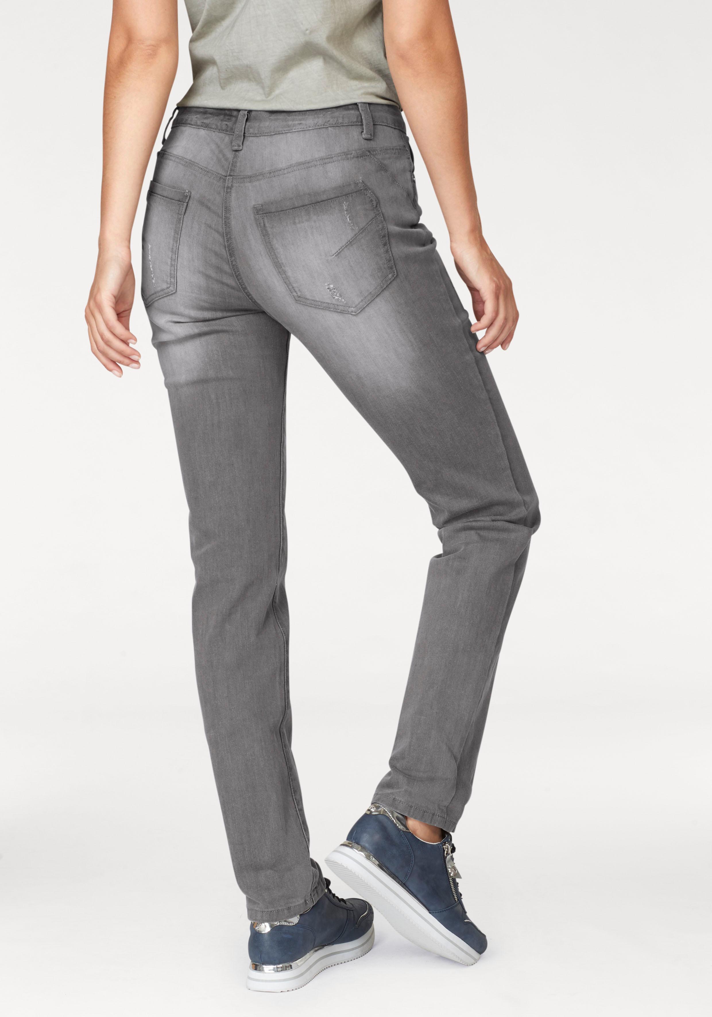 Image of Aniston by BAUR Boyfriend-Jeans, mit Knopfverschluss