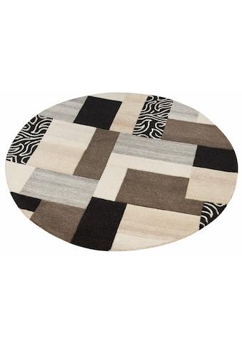 Theko Exklusiv Wollteppich »Lola«, rund, 12 mm Höhe, reine Wolle, Wohnzimmer kaufen