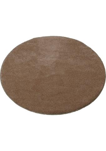 Teppich, »Montana«, merinos, rund, Höhe 20 mm, maschinell getuftet kaufen