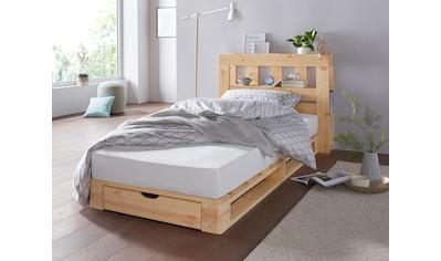 Palettenbett »Alasco«, inkl. Bettkasten aus massiver Kiefer kaufen