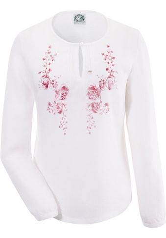 Hammerschmid Trachtenbluse Damen mit zartem Blumendruck kaufen