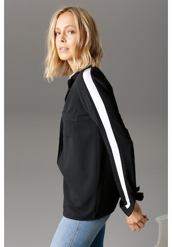 Aniston CASUAL Hemdbluse, mit Streifeneinsatz kaufen