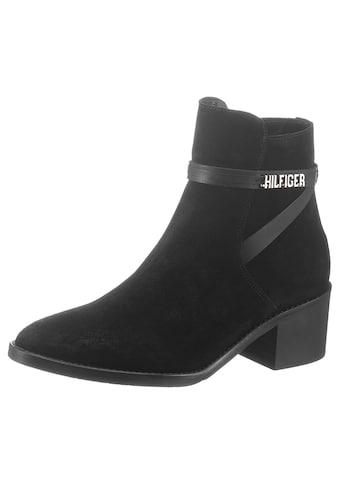 TOMMY HILFIGER Stiefelette »BLOCK BRANDING SUEDE MID BOOT« kaufen