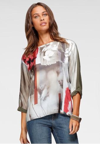 Taifun Rundhalsshirt, mit trendstarkem herbstlichen Print kaufen