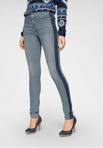 Arizona Skinny - fit - Jeans »Seitennaht mit kontrastfarbenem Streifen« kaufen