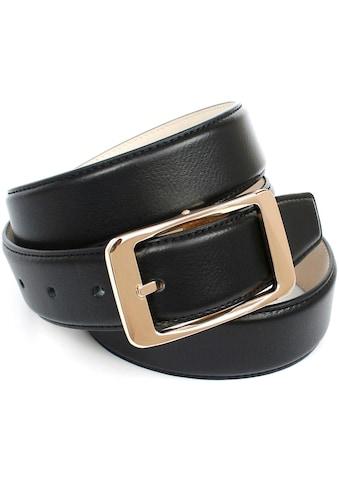Anthoni Crown Ledergürtel, in Hirschprägung mit klassischer Schliesse kaufen
